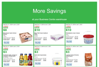 Costco Business Centre Instant Savings Flyer December 21 to January 3