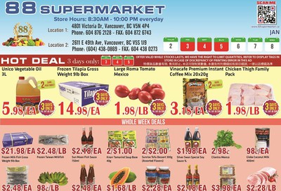 88 Supermarket Flyer January 2 to 8