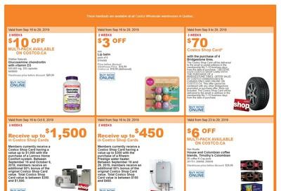 Costco (QC) Weekly Savings September 23 to 29