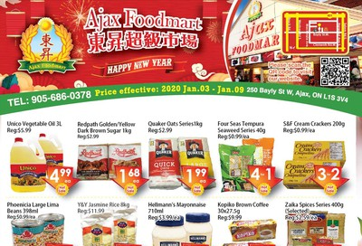 Ajax Foodmart Flyer January 3 to 9