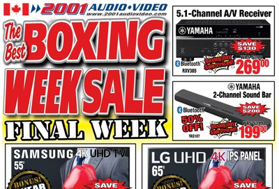 2001 Audio Video Flyer January 3 to 9