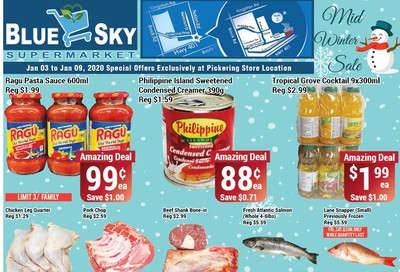 Blue Sky Supermarket (Pickering) Flyer January 3 to 9