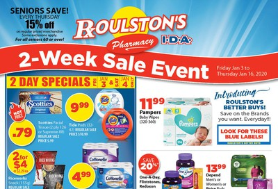 Roulston's Pharmacy Flyer January 3 to 16