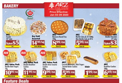 Arz Fine Foods Flyer January 3 to 9