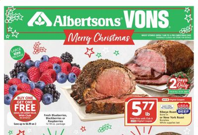 Albertsons Weekly Ad Flyer December 23 to December 29