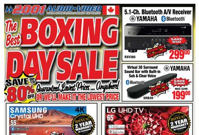 2001 Audio Video Boxing Day/Week Flyer December 22 to 31, 2020