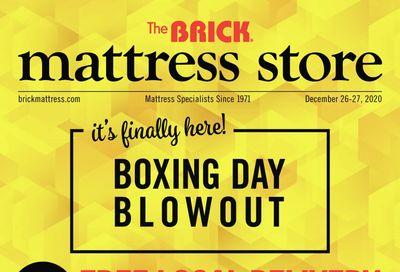 The Brick Mattress Store Boxing Week Flyer December 21 to 31, 2020