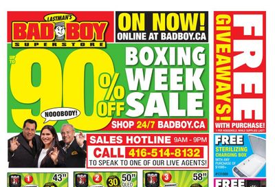 Lastman's Bad Boy Superstore Boxing Day/Week Flyer December 26 to January 13