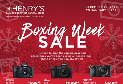 Henry's Boxing Day/Week Sale Flyer December 24 to January 1, 2020