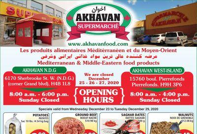 Akhavan Supermarche Flyer December 23 to 29