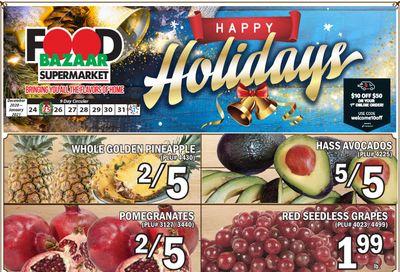 Food Bazaar Supermarket Christmas Holiday Weekly Ad Flyer December 24 to December 30, 2020
