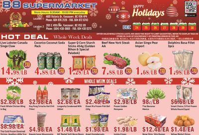 88 Supermarket Flyer December 24 to 30