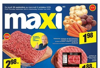 Maxi Flyer September 26 to October 2