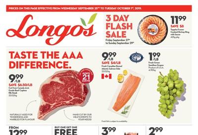 Longo's Flyer September 25 to October 1