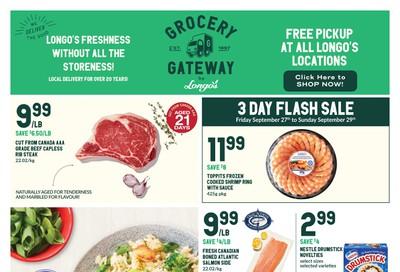 Longo's Grocery Gateway Flyer September 25 to October 1