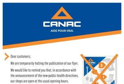 Canac Flyer December 24 to January 7
