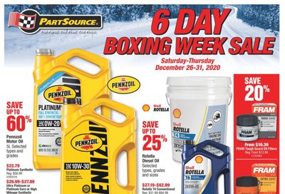 PartSource Boxing Day/Week Flyer December 26 to 31, 2020