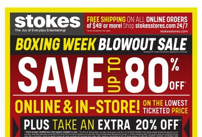 Stokes Boxing Week Flyer December 26 to January 3