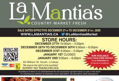 LaMantia's Flyer December 27 to 31