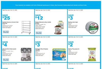 Costco (ON & Atlantic Canada) Weekly Savings January 6 to 12