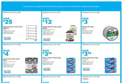 Costco (BC, AB, SK & MB) Weekly Savings January 6 to 12