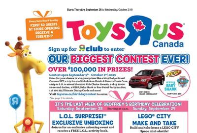 Toys R Us Flyer September 26 to October 2
