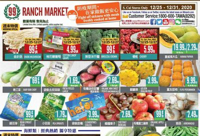 99 Ranch Market (CA) Weekly Ad Flyer December 25 to December 31