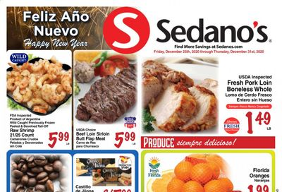 Sedano's (FL) Weekly Ad Flyer December 25 to December 31