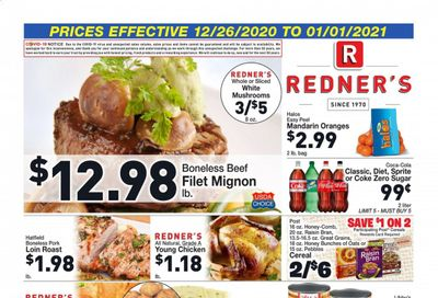 Redner's Markets Weekly Ad Flyer December 26 to January 1