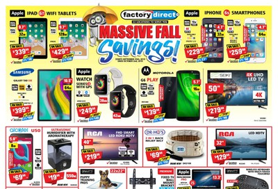 Factory Direct Flyer September 25 to October 2