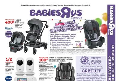 Babies R Us (QC) Flyer September 26 to October 2