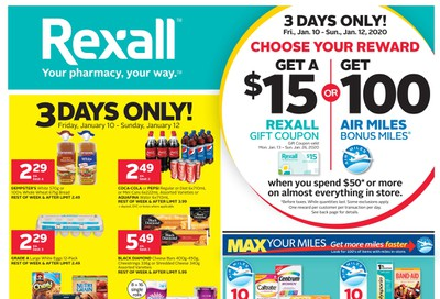 Rexall (West) Flyer January 10 to 16