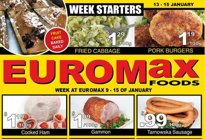 EuroMax Foods Flyer January 9 to 15