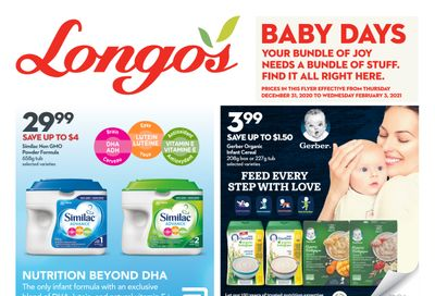 Longo's Baby Days Flyer December 31 to February 3