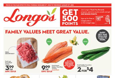 Longo's Flyer December 31 to January 13