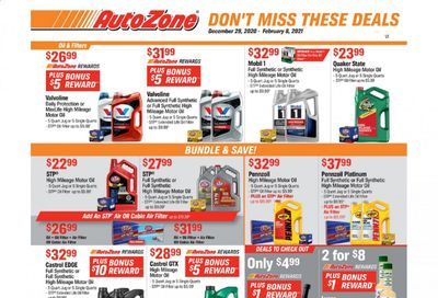Autozone Weekly Ad Flyer December 29 to February 8