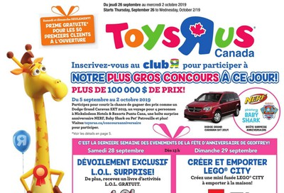 Toys R Us (QC) Flyer September 26 to October 2