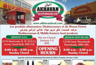 Akhavan Supermarche Flyer December 30 to January 5