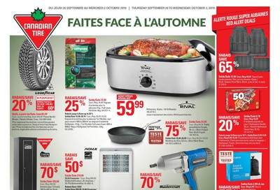Canadian Tire (QC) Flyer September 26 to October 2