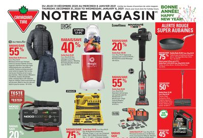 Canadian Tire (QC) Flyer December 31 to January 6