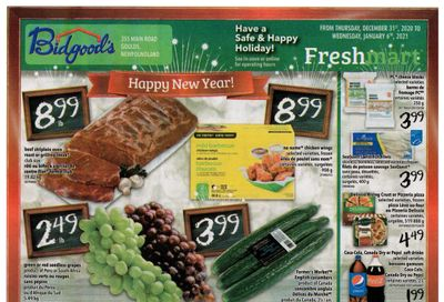 Bidgood's Flyer December 31 to January 6