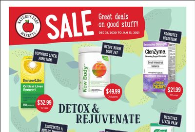 Nature's Fare Markets Flyer December 31 to January 13