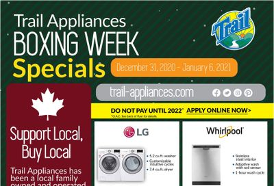 Trail Appliances (AB & SK) Flyer December 31 to January 6