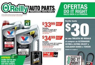 O'Reilly Auto Parts Weekly Ad Flyer December 30 to January 26