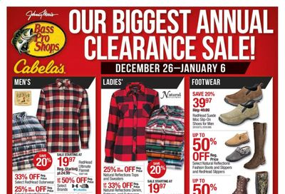 Cabela's Weekly Ad Flyer December 26 to January 6