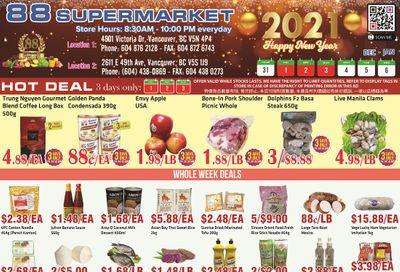 88 Supermarket Flyer December 31 to January 6