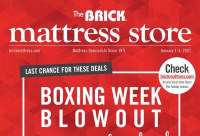 The Brick Mattress Store Flyer January 1 to 4