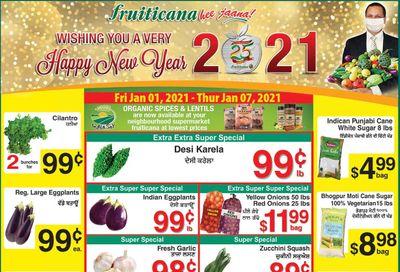 Fruiticana (Edmonton) Flyer January 1 to 7