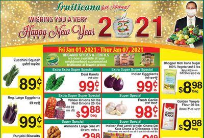 Fruiticana (Calgary) Flyer January 1 to 7