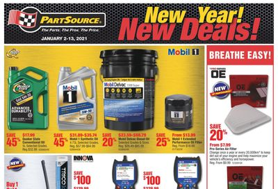PartSource Flyer January 2 to 13